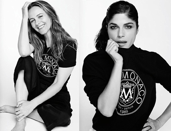 Beau Grealy's shots of Alicia Silverstone and Selma Blair for Club Monaco's #ClubThrowback collection