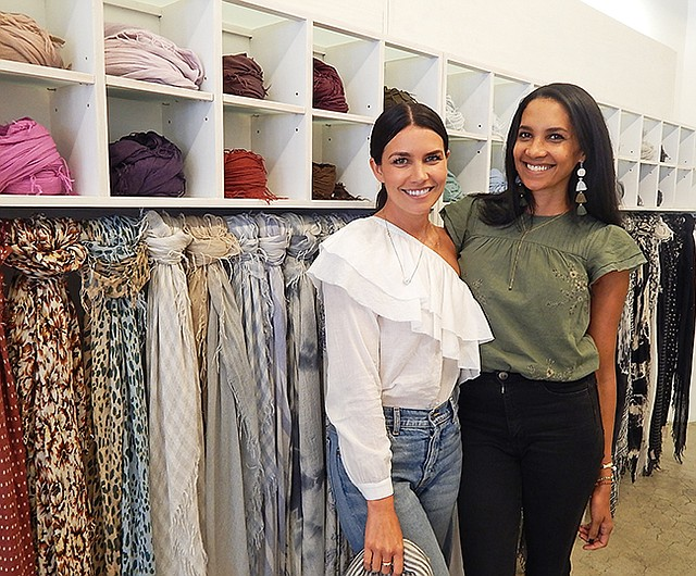 Carly Barcas and Lanae Mackey of the Chan Luu showroom in The New Mart