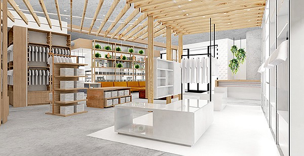 Rendering of interior of Fred Segal flagship | Photo courtesy of Fred Segal