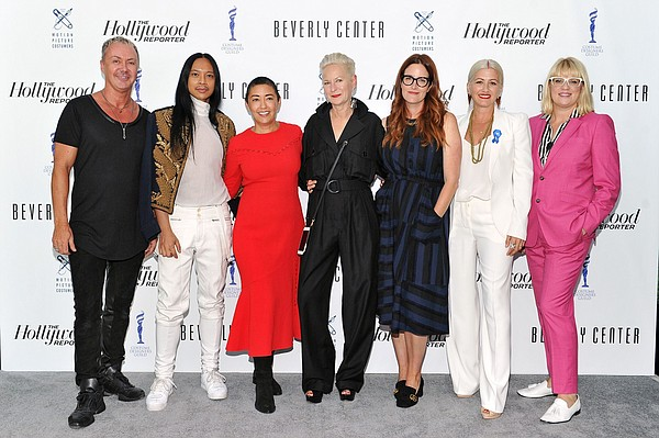 From left, Perry Meek, Zaldy Goco, Ane Crabtree, Lou Eyrich, Alix Friedberg, Trish Summerville and Marie Schley. Photo by Donato Sardella for Getty Images.