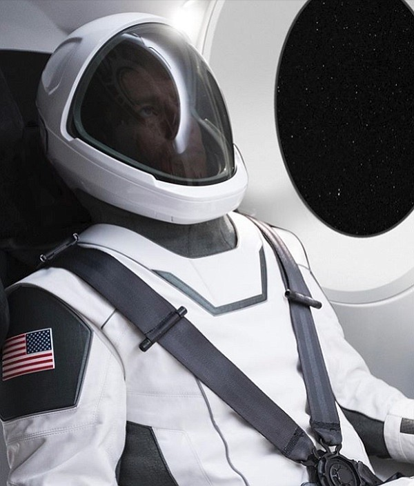 Space X uniforms (photo via Elon Musk's Instagram)