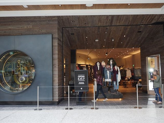 Exterior of Abercrombie & Fitch store at Westfield Century City.