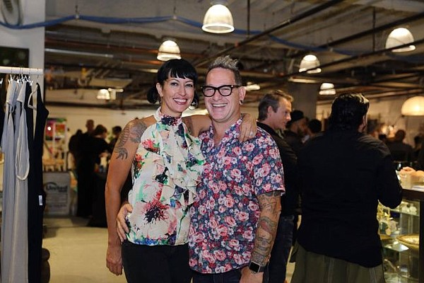 Shelly and Phillip Dane at the grand opening party for Handcrafted LA. Photo by Tina June.