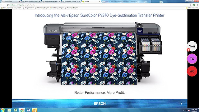 The Epson SureColor F9370 printer is designed for medium- and high-volume printing.