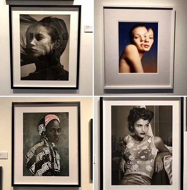 Some of Watson's iconic beauty images including Christy Turlington, Kate Moss, Boukari Kaoulatou and Helena Christensen