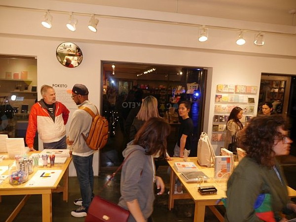 Reception for Poketo's MOCA pop-up