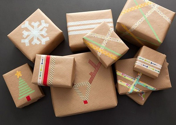 These cute DIY gift wrap ideas are courtesy of Mashable