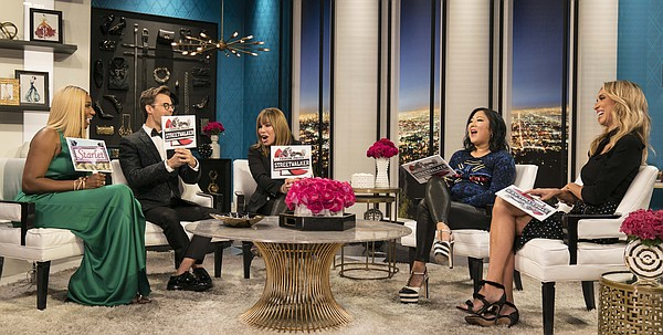 "NeNe Leakes, Brad Goreski, Melissa Rivers, Margaret Cho,and Giuliana Rancic on the finale episode of ""Fashion Police."" (Photo by Brandon Hickman for E! Entertainment)"