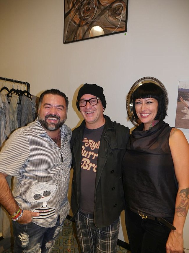 Holiday Meet the Makers crew. From left, Miguel Torres, Phillip Dane and Shelly Famighetti-Dane. Phillip and Shelly are founders of Handcrafted LA.