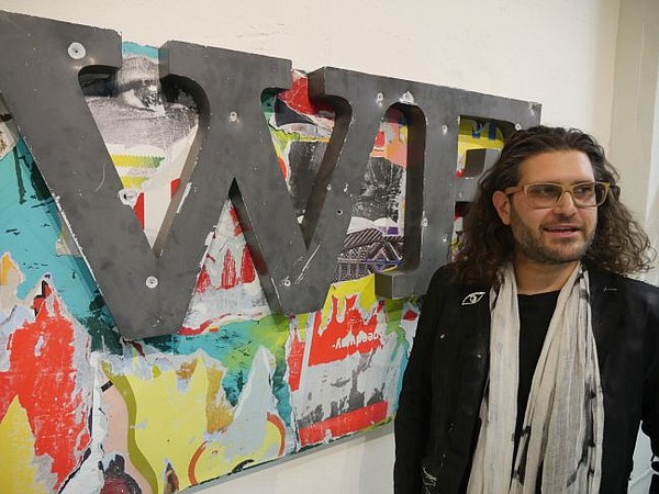 Victor Wilde at his Contemporary Gallery show.