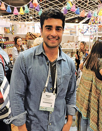 Mohit Juneja of America & Beyond had a colorful booth at WWDMAGIC.