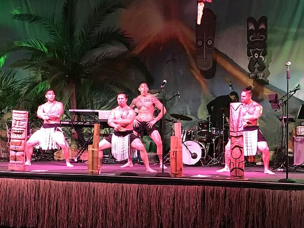 Polynesian dancers perform at Bachelors Ball, Feb. 9 at the Beverly Hilton.