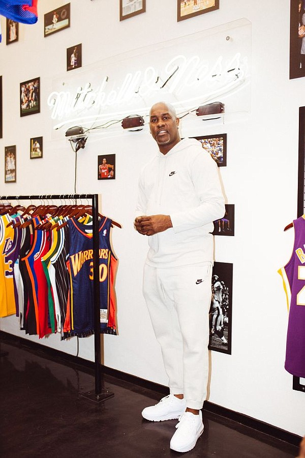 Gary Payton at Mitchell & Ness pop-up on Feb. 15. All images courtesy of Mitchell & Ness.