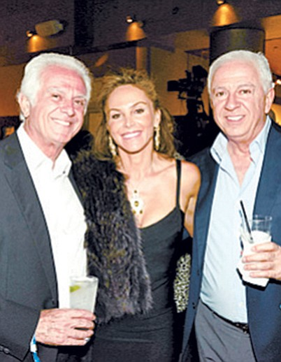 Maurice and Paul Marciano with Patricia Malka