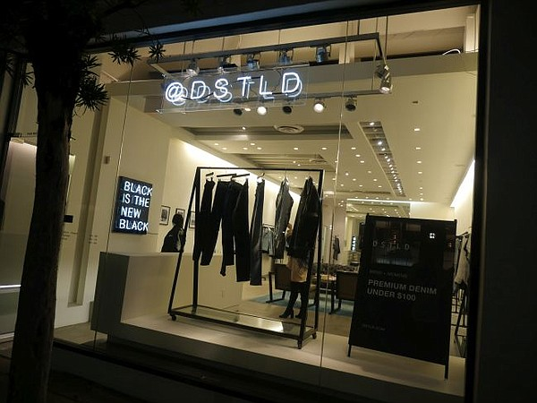 Exterior of DSTLD's Melrose Avenue pop-up