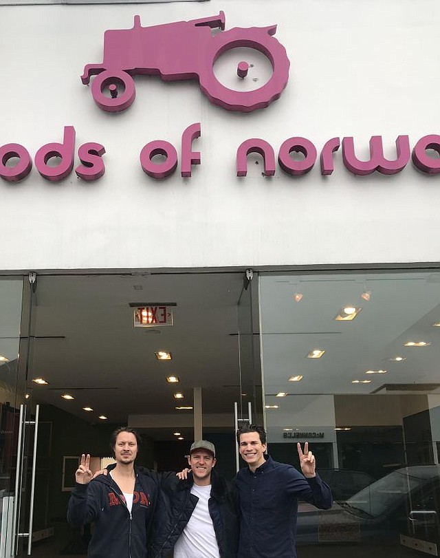 On the last day for Moods of Norway Melrose, from left Stefan Dahlkvist, Aaron Brents and Ben Mayer. Picture courtesy of Stefan Dahlkvist.