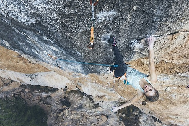 Margo Hayes climbing in Spain