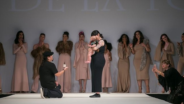 De La Torre Asks Girlfriend To Marry At His Style Fashion Week Show California Apparel News