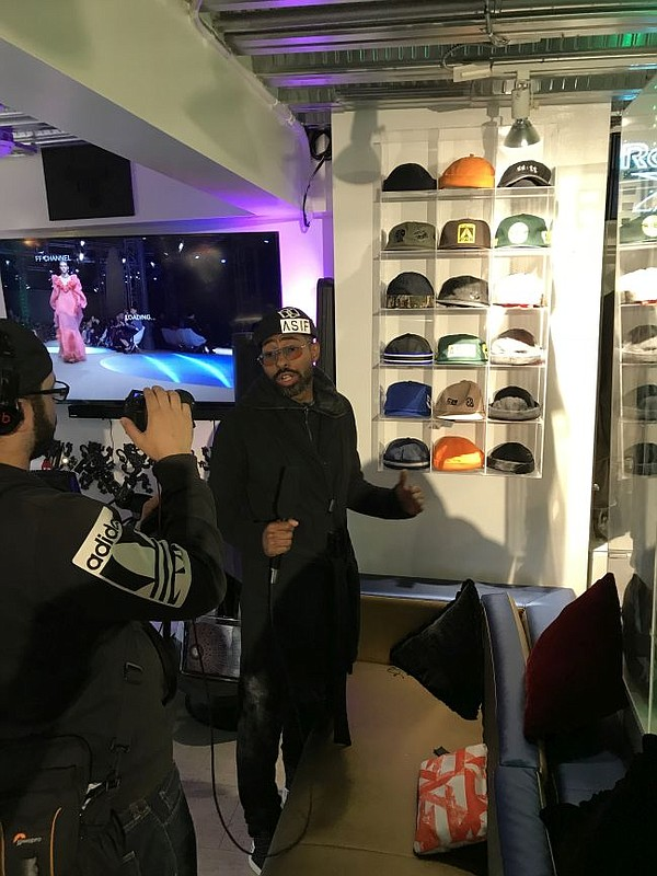 MannyJStyle produces podcast at the Past Present Future pop-up at SixHundredLA.