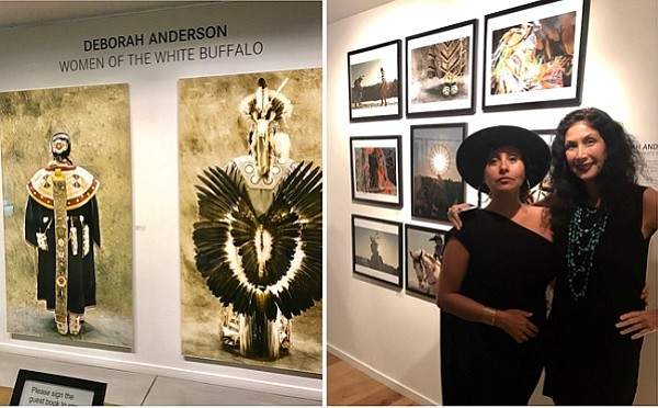 Photographer Deborah Anderson with Leica Gallery Manager Paris Chong