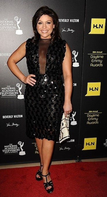 Rachael Ray wears a Marc Bouwer dress to the 2012 Daytime Emmy Awards
