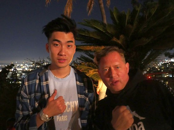 Wanderset's Greg Selkoe, right, with a star of the FaZe Clan team who goes by the name Rice