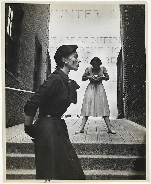 Bettina and Frances McLaughlin-Gill shot by Gordon Parks at New York's Hunter College in 1950.