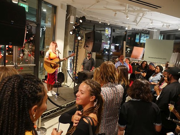 Mahalia performed at party for Fred Segal Loves Browns. Photo by Andrew Asch