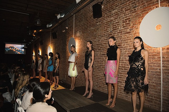 Julia Daviy's Liberation Collection, which was shown during FashionHub's Fashion Meets Technology event, held Sept. 6 during New York Fashion Week at The Flat NYC.