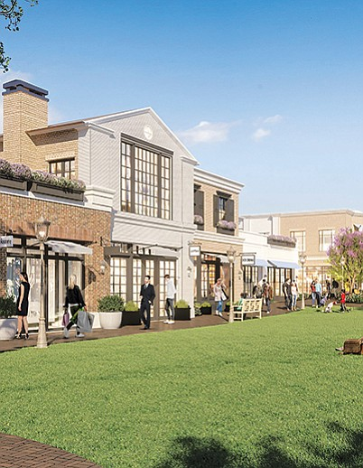 Renderings of Palisades Village | Renderings courtesy of Caruso