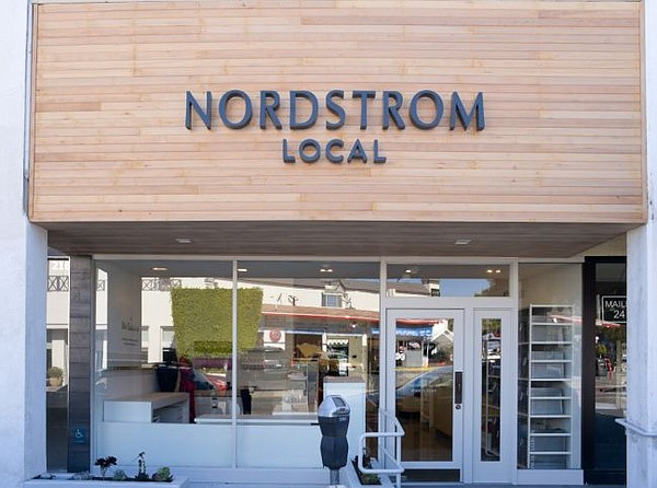 Exterior of Nordstrom Local in Los Angeles' Brentwood section. All images courtesy of Nordstrom