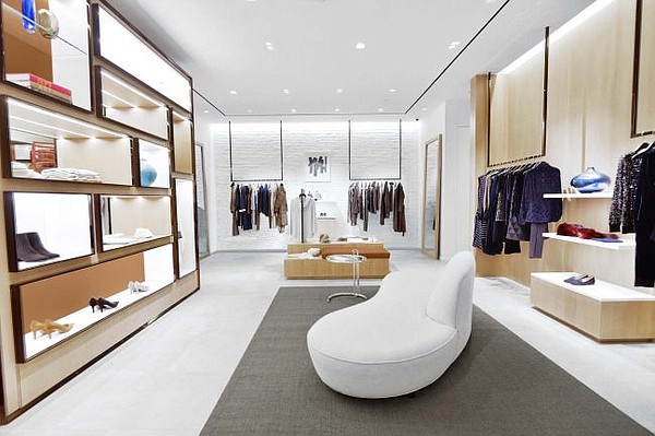 Interior of Lafayette 148 New York's  South Coast Plaza store. Image courtesy Lafayette 148 New York
