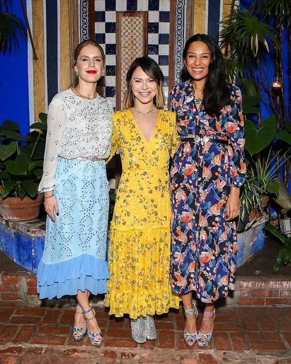From left Eugenie Niarchos, Elyse Walker and Saloni Lodha. Photo by Sansho Scott/BFA