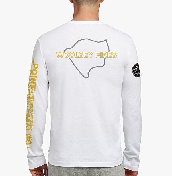 A James Perse Fire Relief tee. Image courtesy of James Perse