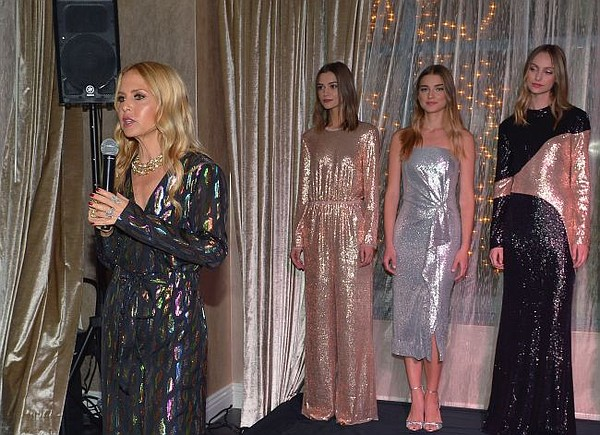 Rachel Zoe at presentation for her label's Holiday collection. All photos by Donato Sardella/Getty Images for Rachel Zoe