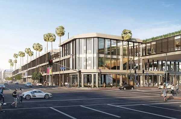 Rendering of One Westside. Image courtesy of Hudson Pacific