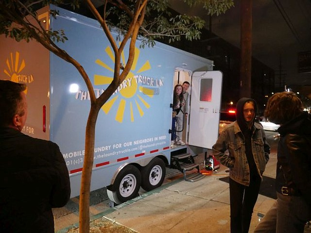 The Laundry Truck LA parked at Zinc  March 7
