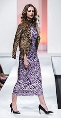 Lea & Viola biker jacket, Fashion Union maxi dress, WAYF mesh bodysuit