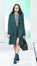 Ashley by 26 International coat, Dress Forum blouse, Ami + Nicole skort, Lionel bag