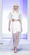 Elliatt crop-and-tulle-skirt set