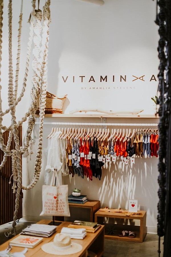 Vitamin A pop-up at Fred Segal Sunset. All images courtesy of Vitamin A by Amahlia Stevens