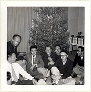 badba18012048 Rudi Gernreich (wearing a black necktie) with the original members of the  Mattachine Society, 1950 Photo: J. Gruber Papers, James C. Hormel LGBTQIA  Center, ...