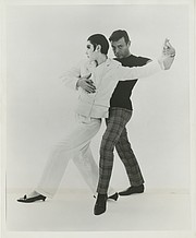 b928f03d7e076 Rudi Gernreich with model Peggy Moffitt, who is wearing the