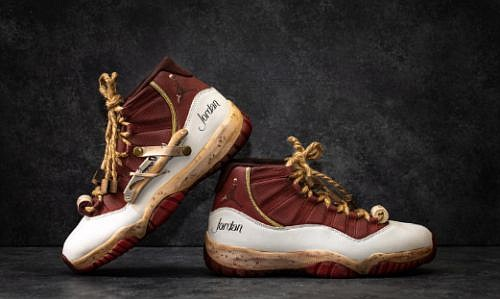 db9565a2074 Air Jordan XV Retro 2015 Jordan Cabernet Sauvignon Limited Edition  Sneakers. Image via jordanwinery.