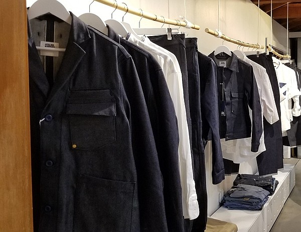 Atelier & Repairs x Candiani Denim on display at the Atelier & Repairs boutique