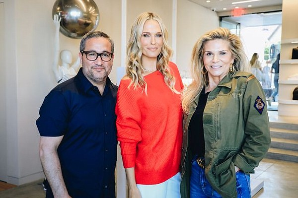 Bandier's Neil Boyarsky and Jennifer Bandier at May 16 opening of their Melrose Avenue flagship. Actress Molly Sims hosted the opening party. She is pictured center. Photos by Kathryn Page