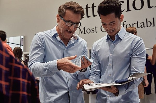 Robert Herjavec and Danh Tran at Butter Cloth pop-up. All photos courtesy of Butter Cloth