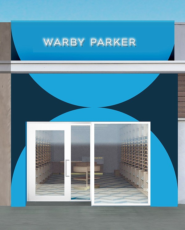 Rendering of Warby Parker's Studio City story. All images courtesy of Warby Parker