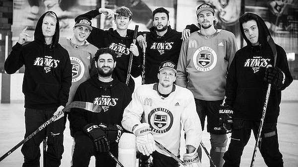 Members of FaZe Clan and LA Kings show some looks from collaboration FaZe Clan x LA Kings limited edition line. Photos courtesy FaZE Clan