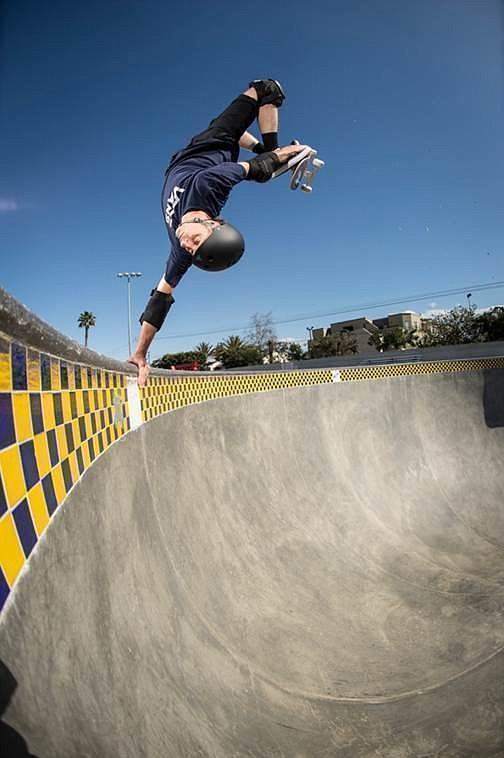 Tony Hawk at the Vans Off the Wall Skatepark in Huntington Beach, Calif. Photo: Michael Burnett